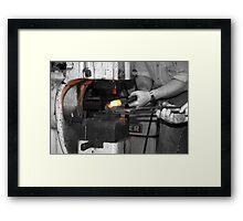 Working Metal Framed Print