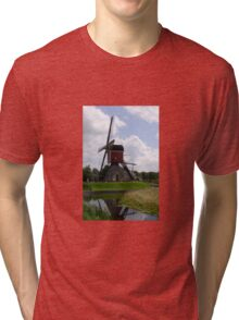 Post mill (Lagenwaardse Molen) Tri-blend T-Shirt