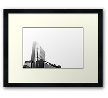 Lost in the fog Framed Print