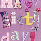 A birthday card with Text  by Ann12art