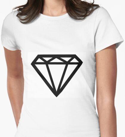 Cher Lloyd Diamond B/W Womens Fitted T-Shirt