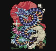 82-Snake Tattoo Flash T-Shirt by bear77