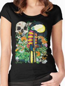 84-Toucan Tattoo Flash T-shirt Women's Fitted Scoop T-Shirt