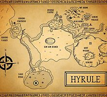 Hyrule Map  OOT by KewlZidane
