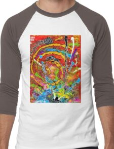 Red Wine and Jazz on a Snowy Night Men's Baseball ¾ T-Shirt