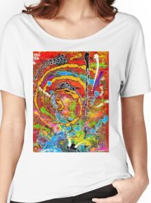 Red Wine and Jazz on a Snowy Night Women's Relaxed Fit T-Shirt