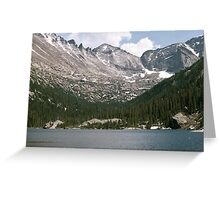 Lake at the top of the mountain Greeting Card