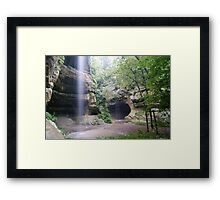 Dual Waterfalls and Blown out Skies Framed Print
