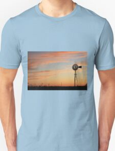 Orange Sky Windmill Silhouette T-Shirt