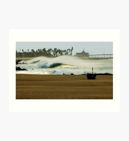 Fire Swell Newport Beach Art Print