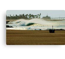 Fire Swell Newport Beach Canvas Print