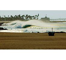 Fire Swell Newport Beach Photographic Print