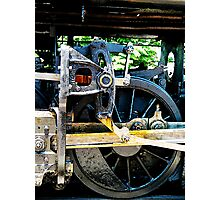 Great Western 90 Wheel Close Photographic Print