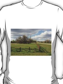 Country Wooden Fence with Storm Cloud's T-Shirt