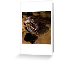 Kermit in bronze Greeting Card