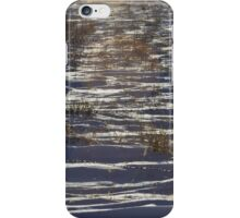 Snowy Country Fence Line iPhone Case/Skin