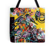 birds in yellow Tote Bag