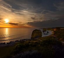 Evening Falls over The Twelve Apostles  by Manfred Belau