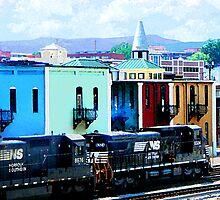 Norfolk Southern 8324 and 8676 by Susan Savad