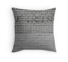 bricked shut Throw Pillow