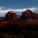 Arizona landscape at night near Sedona by doctorphoto
