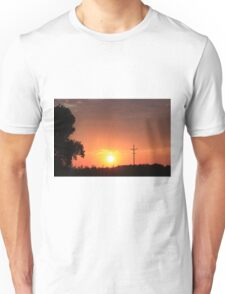 Kansas Blazing Orange Silhouette Sunset Unisex T-Shirt