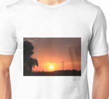 Kansas Blazing Orange Silhouette Sunset Unisex T-Shirt