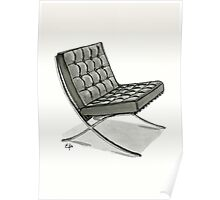 Barcelona chair - Watercolor Painting  Poster