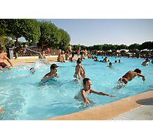 Crowded Pool Photographic Print
