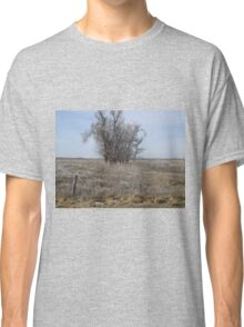 Kansas Icy Morning in a field Classic T-Shirt