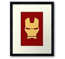 Ironman Face Framed Print