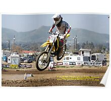Over my head!  Rider #715;Perris MX, Perris, CA USA Poster