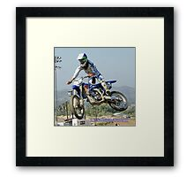 I have everything under control! Rider 90x LLQ Perris, MX, Perris, CA USA  Framed Print