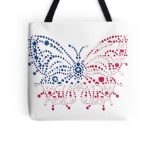 American Patriotic Dots Butterfly Flag  Tote Bag