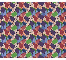 Abstract houses seamless pattern Photographic Print