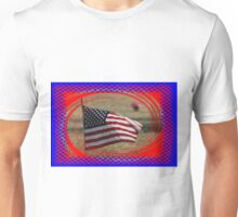 Colorful US Flag on Memorial Day Unisex T-Shirt