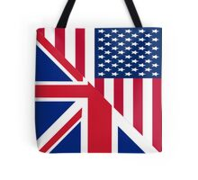 American and Union Jack Flag Tote Bag