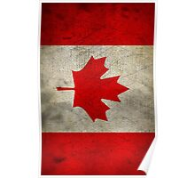 Grunge Canada Flag Poster