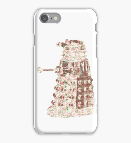 Floral Dalek iPhone Case/Skin