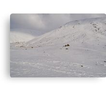 Snow Scene - The Lakes Canvas Print