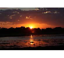 Sunset Reflection on the Water Photographic Print
