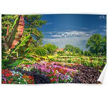 Lincoln Sunken Gardens - HDRI Style Poster