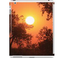 Blaze Orange Kansas Sunset with Tree silhouette's iPad Case/Skin