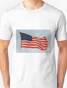 US FLAG Flying in the Sun Light T-Shirt