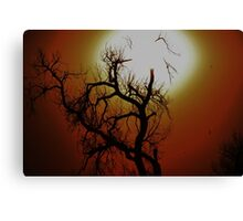 HALLOWEEN TREE BRIGHT AND COLORFUL Canvas Print