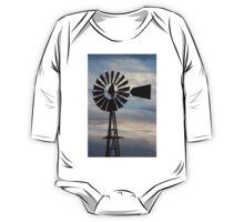 Kansas Windmill Silhouette with Sky One Piece - Long Sleeve