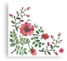 watercolor roses Canvas Print