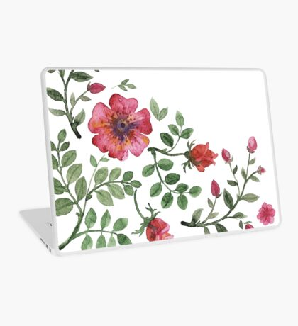 watercolor roses Laptop Skin