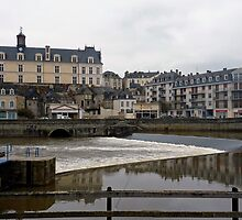 "The river ""la mayenne"" Laval (France) by Franlaval"