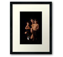 Tataya & children Framed Print